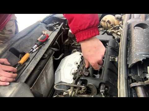 Citroen C4(B7) самостоятельная замена свечей мотор EP-6