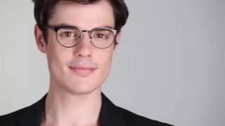 8ed04466494d Outline Eyeglasses in Black Steel Wood for Men