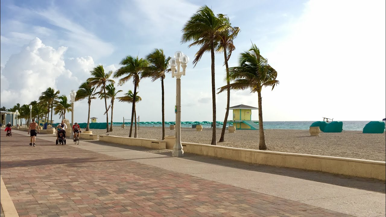 Hollywood Beach Boardwalk Florida You