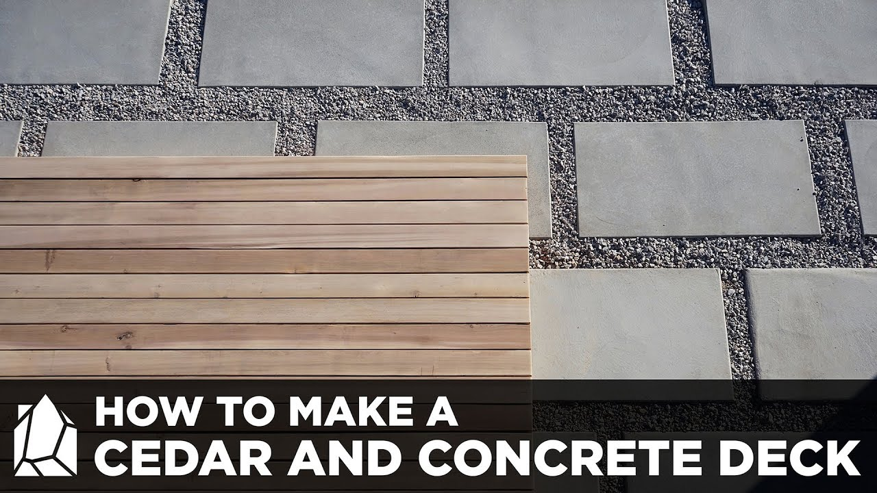 Home Depot Cedar Deck Boards How To Make Concrete Patio Pavers And A Solid Cedar Deck
