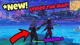 Fortnite Glitches Season 5 (New Easy) Under The Map Become Invincible on PS4/Xbox 2018
