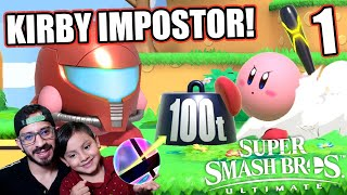 AMONG US EN SUPER SMASH BROS | KIRBY VS KIRBY EN SMASH | JUEGOS KARIM JUEGA