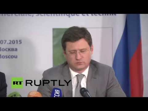 LIVE: Russian Energy Minister Novak and Algerian FinMin Benkhalfa hold joint presser