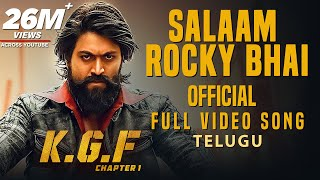 Salaam Rocky Bhai Full Video Song | KGF Telugu Movie | Yash | Prashanth Neel | Hombale Films