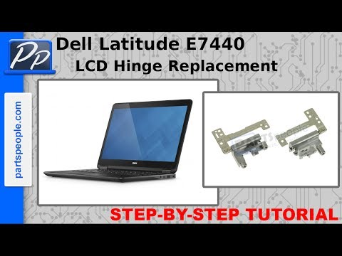 Dell Latitude E7440 LCD Hinges Video Tutorial Teardown
