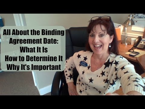 All About the Binding Agreement Date