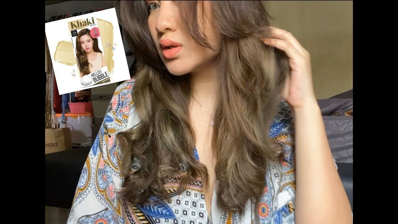 Tutorial cat  rambut  sendiri Ash Green Grey Khaki  YouTube