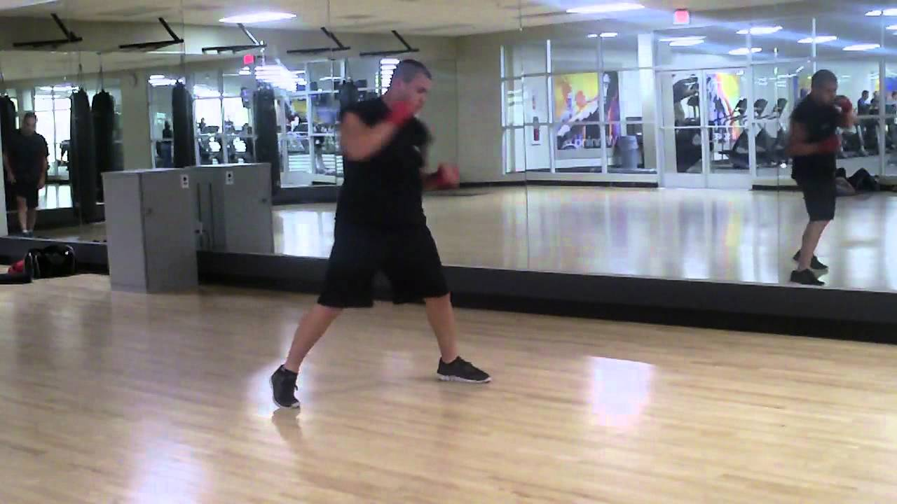 Gabe Shadow boxing at LA Fitness - YouTube