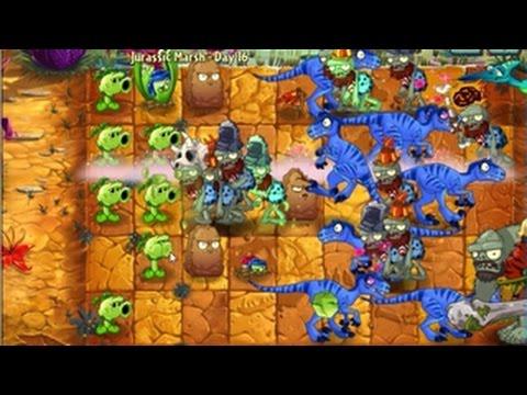 เกมส์พืชปะทะซอมบี้ 2: Jurassic Marsh - Day 16