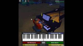 Piano Classics - Chopsticks by: Euphemia Allen on a ROBLOX piano. [Hard]