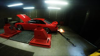 Stage 2a s14 on the Dyno - FLAMES