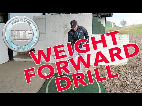 Weight forward drill   Stack & Tilt   Golf Tips   Lesson 37