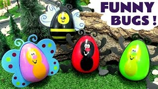 Funny Surprise Eggs Bugs | Peppa Pig Minions Scooby-Doo Shopkins Disney Surprise Toys