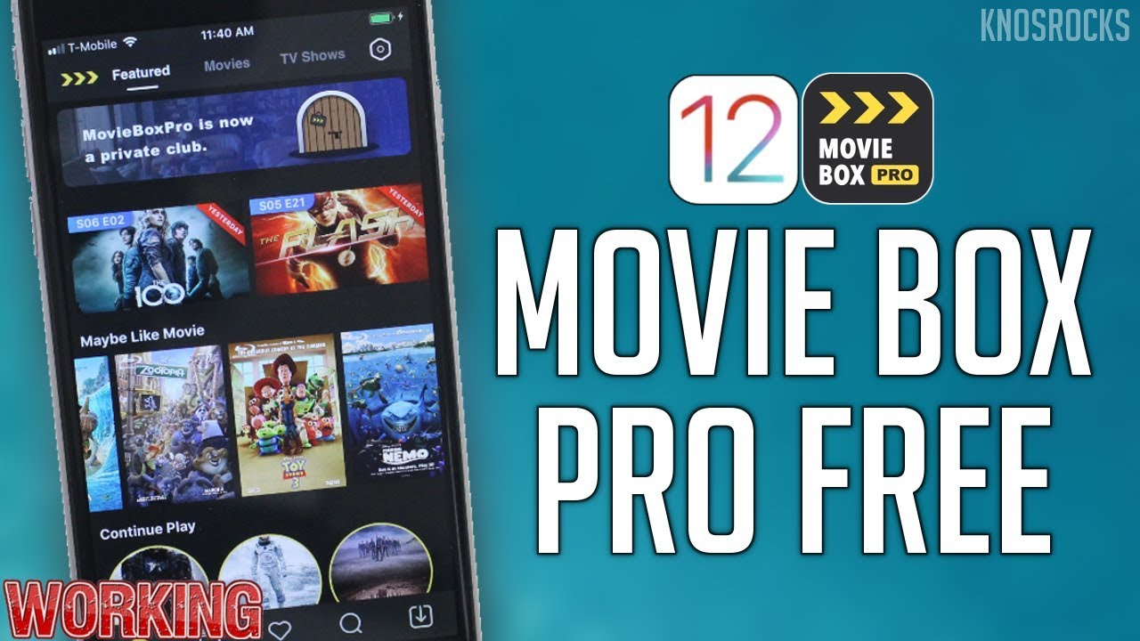 NEW! 2019 Get Movie Box PRO FREE iOS 12 - 12 4 1 / 11 / 10 No Jailbreak /  PC iPhone NOW WORKING!