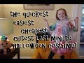 Cheapest Easiest Quickest Last Minute Halloween Costume!  For Children or Adults!