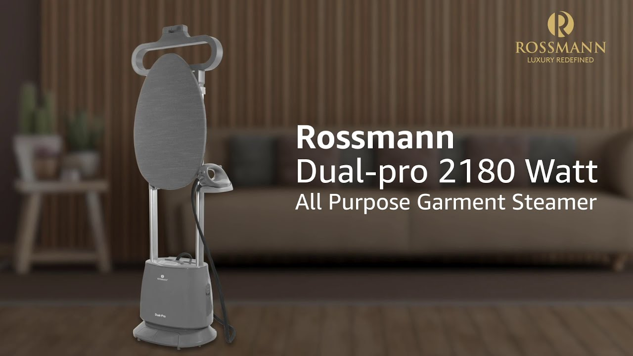 Rossmann Garment Steamer Dual-Pro 2180 Watts with 600 W Heated Ceramic Sole Plate and Ironing Board