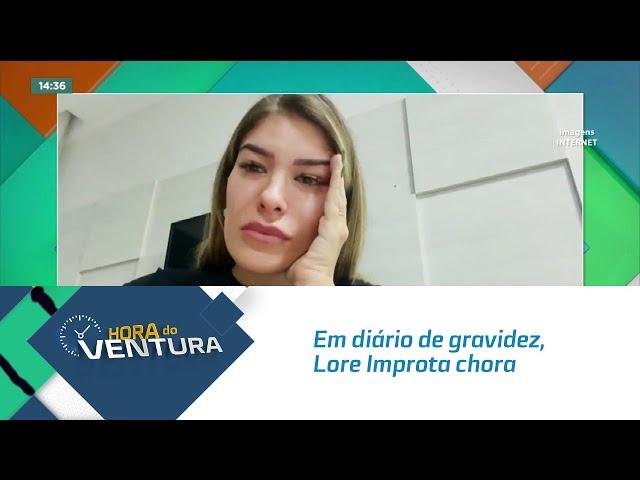 Em diário de gravidez, Lore Improta chora ao contar que não consegue se alimentar bem