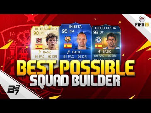 FIFA 15 | BEST POSSIBLE SPAIN SQUAD BUILDER w/ TOTS DIEGO COSTA and BUTRAGUEÑO