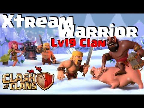 [424] Lv19 Clan XtreamWarrior High Level Power Clanwar | Clash of Clans Deutsch COC