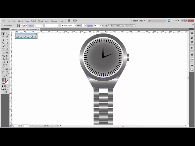 How to make wrist watch with Adobe Illustrator