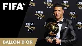 Cristiano Ronaldo tears up at Ballon d'Or