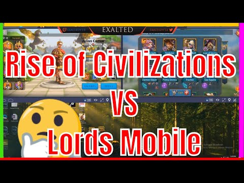 Lords Mobile VS Rise Of Civilizations RO