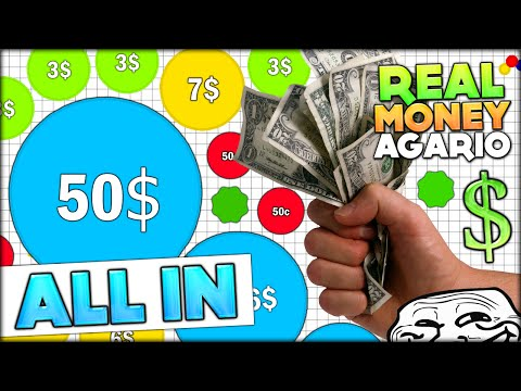 BETTING ALL OUR MONEY IN THE REAL MONEY AGARIO - GOOD LUCK?