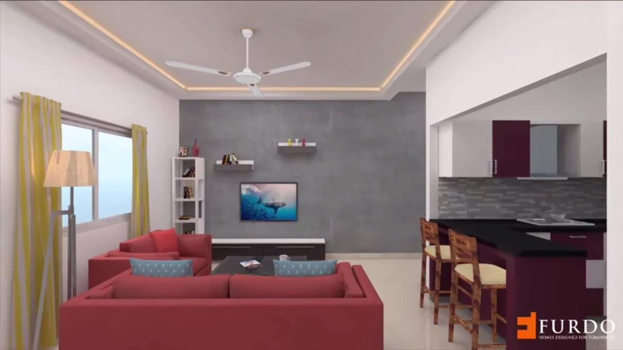 Vaswani Brentwood Type D 3BHK : Furdo Interior Design 3D Walk Through |  Bangalore