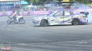 FreeStyle Yamaha R25 250CC  vs Drifting car AMF 2015
