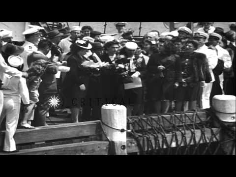 A ceremony to pay tribute to maritime service in New York City:  Scenes from Fede...HD Stock Footage