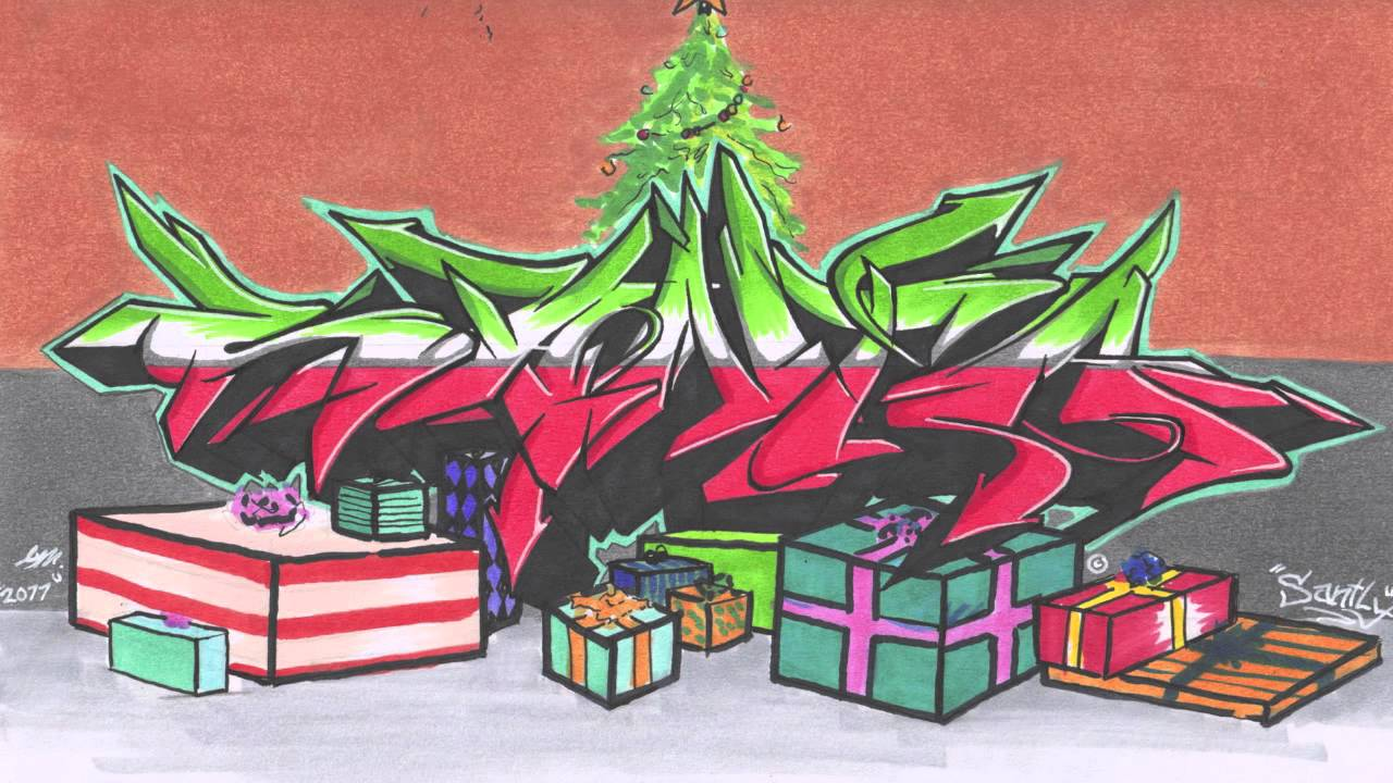 или граффити поздравления с новым годом этом небольшая