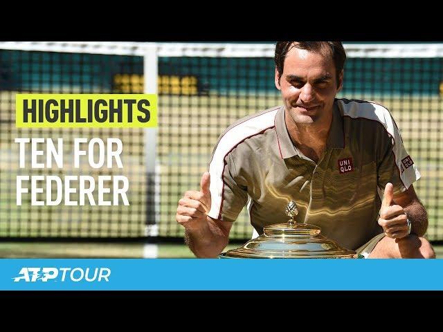 Federer Makes It 10 In Halle | HIGHLIGHTS | ATP