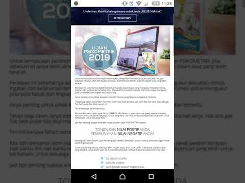 Ujian Psikometrik Spa Pembantu Setiausaha Pejabat Gred N19 Youtube