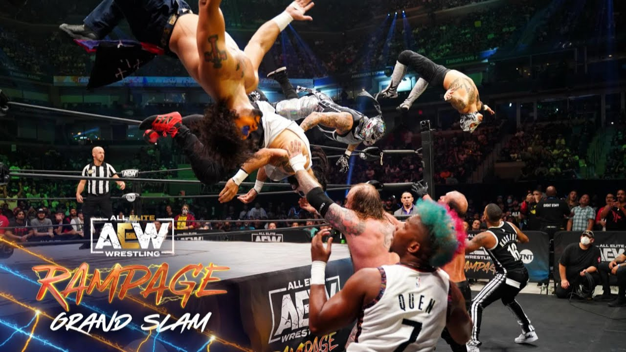 Watch the Tag Champs Soar in this Amazing 8 Man Tag Team Matchup   AEW Rampage Grand Slam, 9/24/21