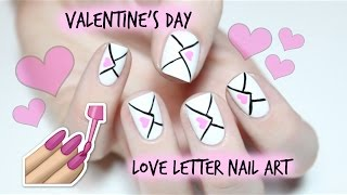 Valentines Day Nails: Love Letters | The Nail Trail