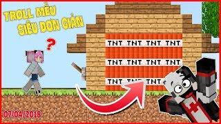 THỬ THÁCH TROLL MỀU BẰNG CĂN NHÀ TNT*REDHOOD TROLL MỀU BẰNG CĂN NHÀ TNT*XÂY NHÀ AN TOÀN BẰNG TNT