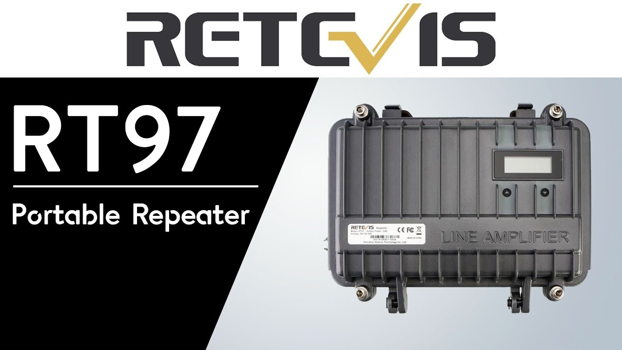 RETEVIS RT97 Portable Analog 10W VHF/UHF Repeater