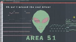 How Does Area 51 Sounds Like - MIDI Art