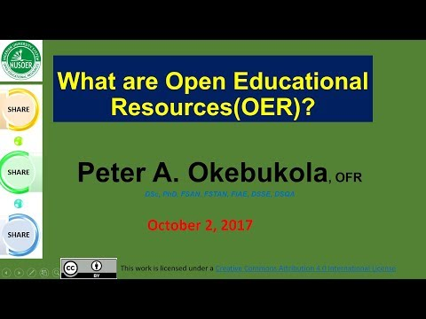 What Are Open Educational Resources (OER)? by  Peter A  Okebukola