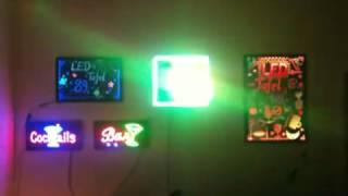 Светодиодные вывески в офисе продаж(, 2012-08-23T06:09:03.000Z)