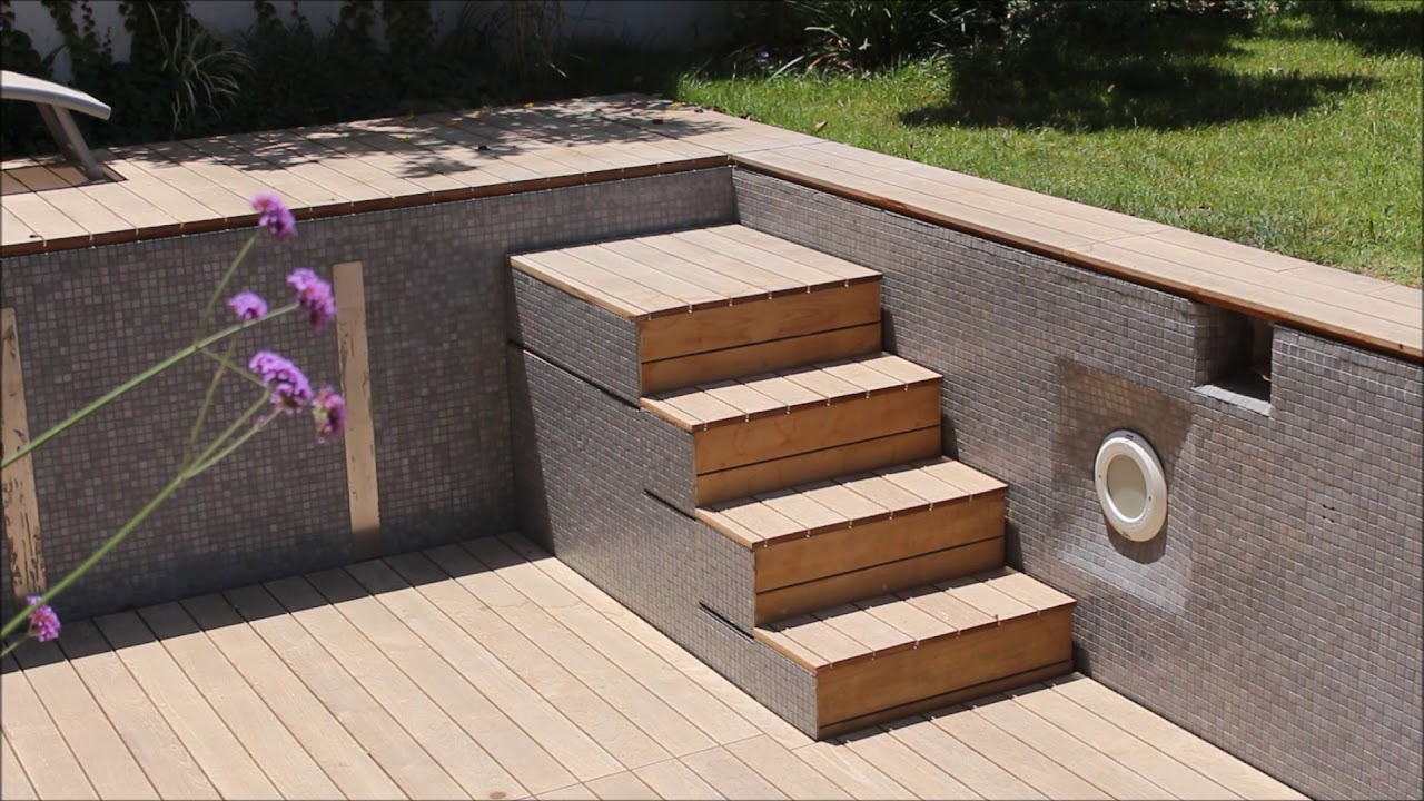 Wooden Deck Movable Floor For Swimming Pool