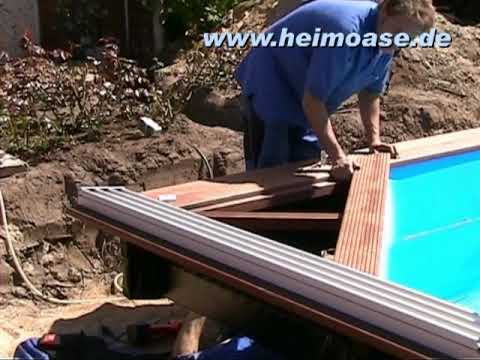 schwimmbadbau hamburg poolbau mit holz youtube. Black Bedroom Furniture Sets. Home Design Ideas