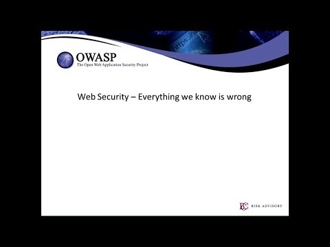 Application Security: Everything we know is wrong - Eoin Keary