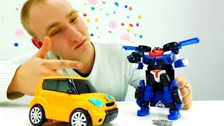 Детское видео про Машины и #Роботы Распаковка ТОБОТОВ! Игрушки для мальчиков Роботы #Трансформеры