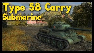 ► World of Tanks Type 58 Gameplay | Submarine Carry in Tier 8 Battle [4,200 Damage]