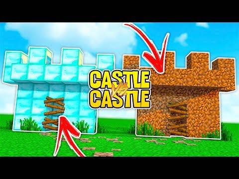 NOOB DIRT CASTLE VS PRO DIAMOND CASTLE! - Noob Vs Pro Castle Challenge