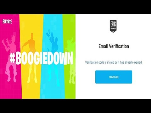 Fortnite - BoogieDown Emote - Verification Code Is Invalid Or Already Expired ERROR - Step By Step!