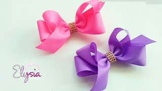 Laço Boutique Assimétrico Ribbon Bow Tutorial DIY by Elysia Handmad...