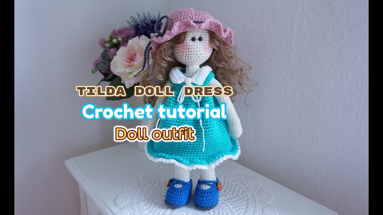 Crochet Amigurumi Doll In Winter Pants Outfit with Plushie Cat Toy ... | 720x1280