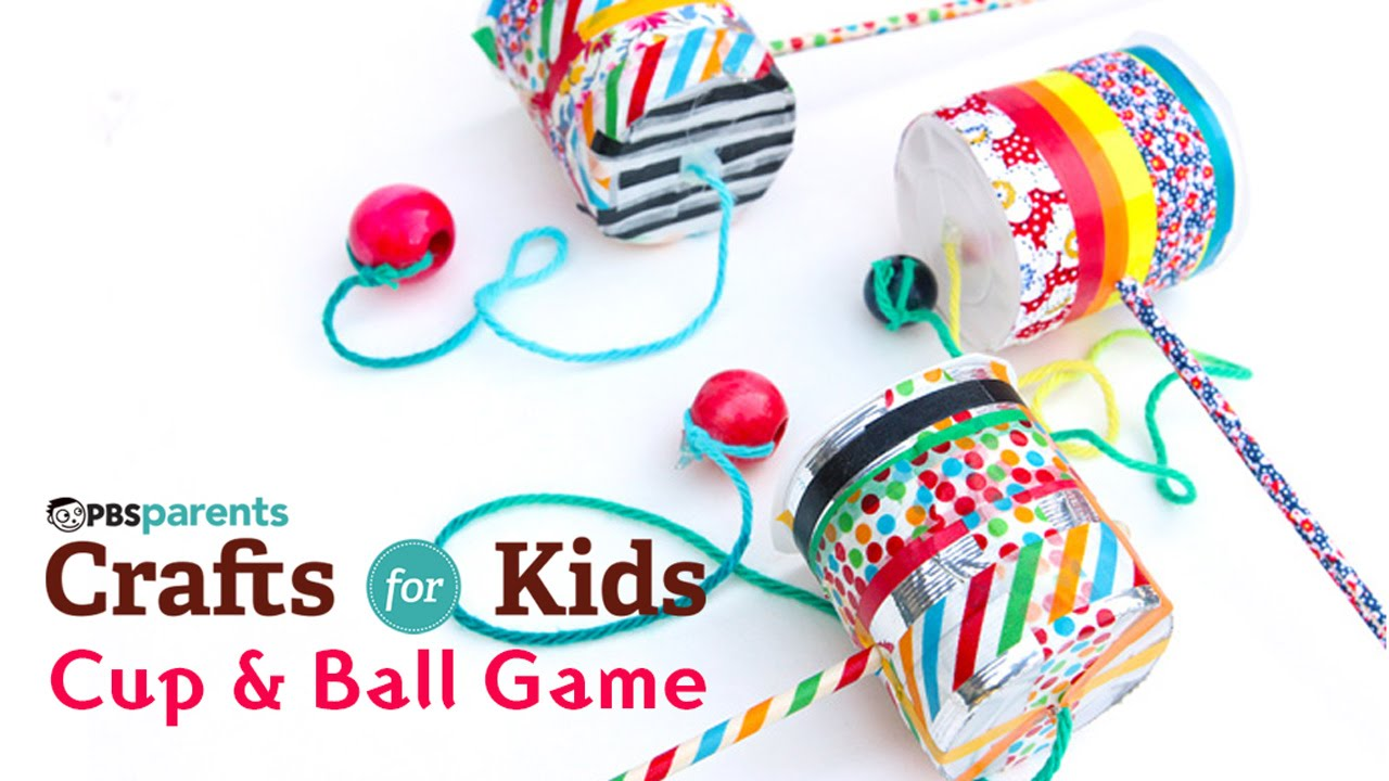 Diy toy cup ball game pbs parents crafts for kids youtube solutioingenieria Gallery